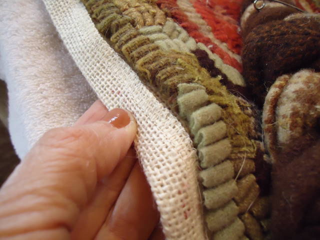 In Viewing Other Hooked Rugs, I Had Noticed The Braid Being Sewn To The Last